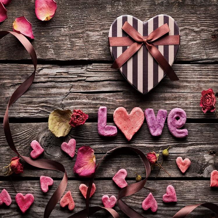 Glasschilderij Love - Be Romantic