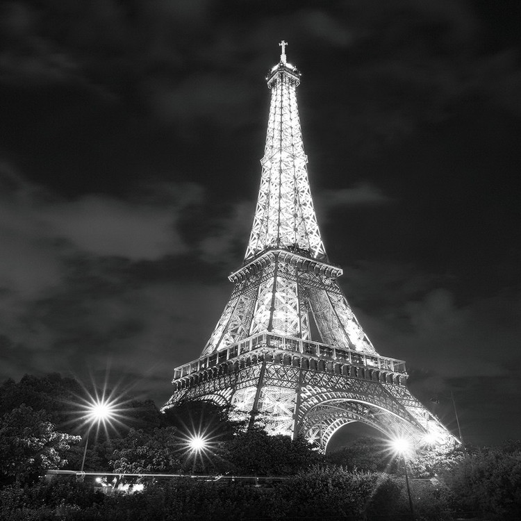 Glastavla Paris - Eiffel Tower at Night