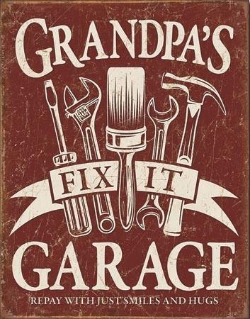 Grandpa's Garage Metalen Wandplaat