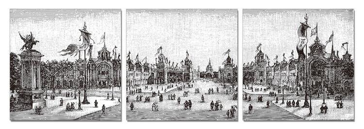 Gray Square Tableau Multi-Toiles