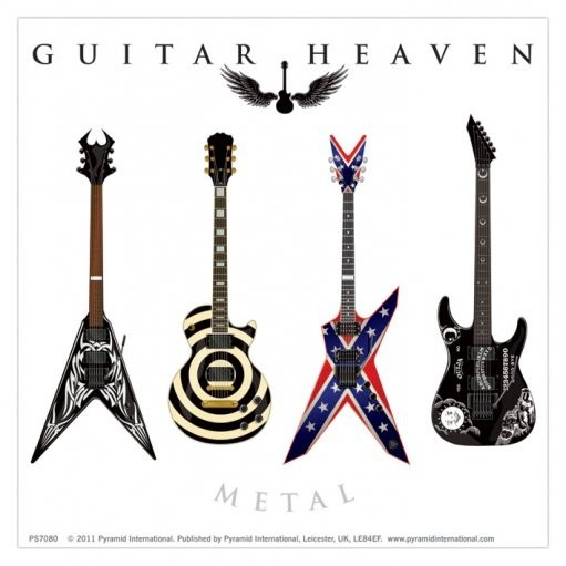GUITAR HEAVEN - metal Autocolant
