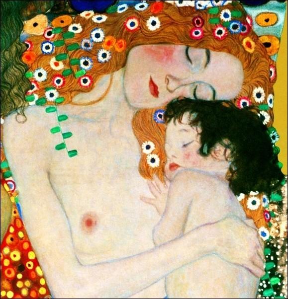 Gustav Klimt - Le Tre Eta Della Vita Festmény reprodukció