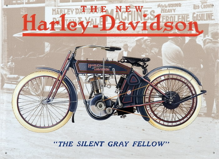 HARLEJ DAVIDSON - old grey fellow Metalplanche