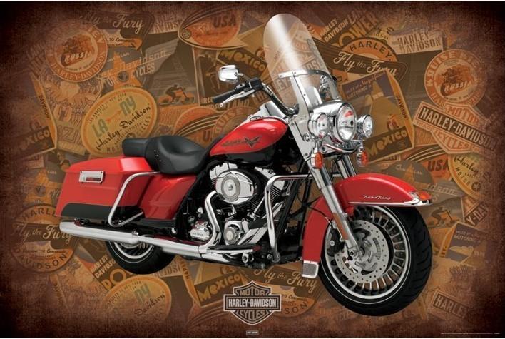 Harley Davidson - road king - плакат (poster)