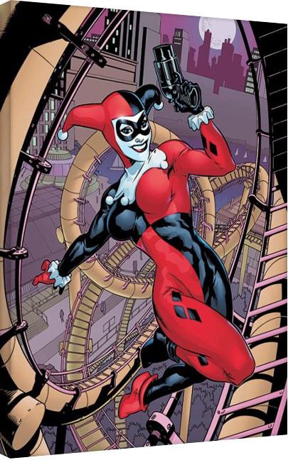 Plagát Canvas Harley Quinn - Rollercoaster