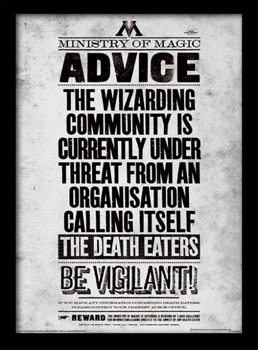 Harry Potter - Be Vigilant üveg keretes plakát
