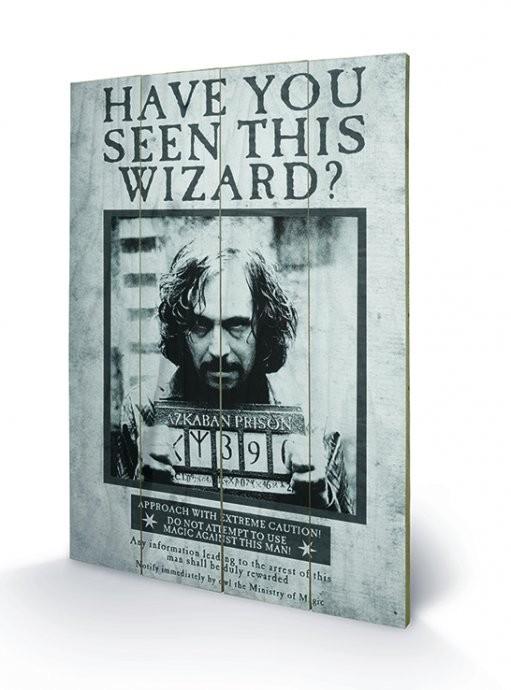 Bild auf Holz Harry Potter - Sirius Wanted