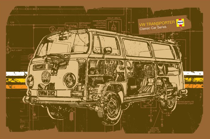 Haynes - VW Volkswagen transporter - плакат (poster)