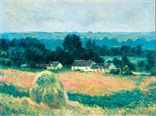 Haystack at Giverny Festmény reprodukció
