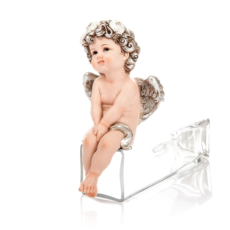 Angel Romantic Sitting, 17 cm Heimdekoration