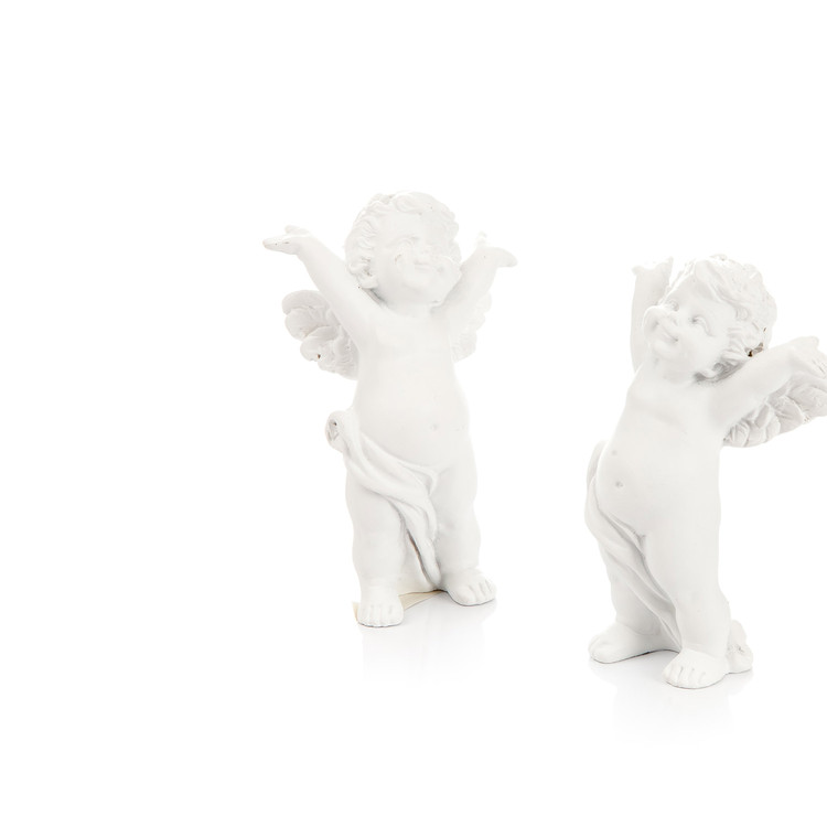 Angel with Hands Behind Head, 8 cm, set of 2 pcs Heimdekoration