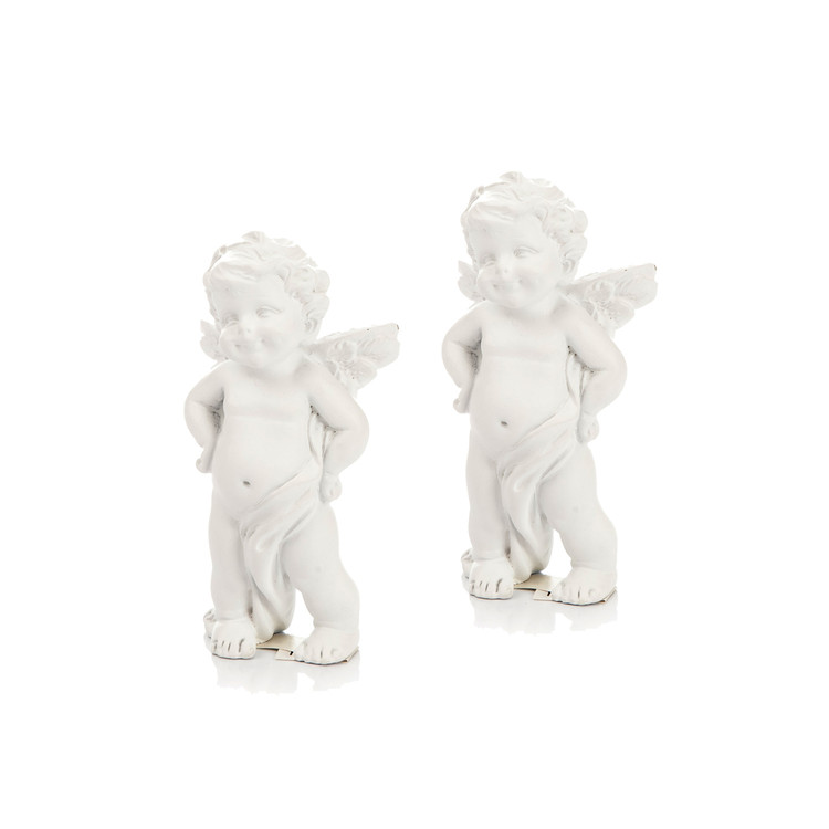 Angel with Hands on Hips, 8 cm, set of 2 pcs Heimdekoration