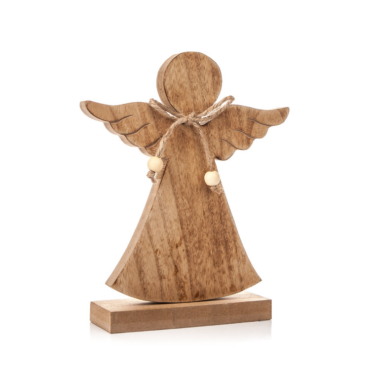 Angel Wooden with Bow, 21 cm Heimdekoration