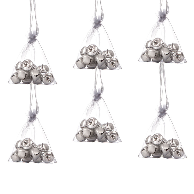 Bells in Bag, 10 pcs, 2,5 cm, set of 6 pcs Heimdekoration