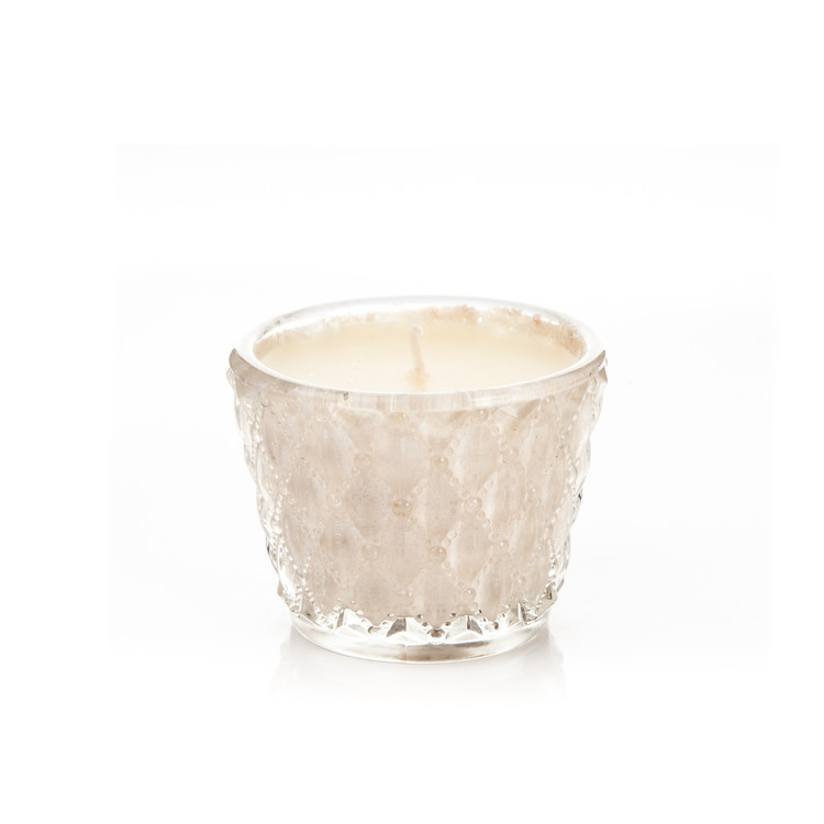 Candle Glass Metal - Vanilla, White 6 cm Heimdekoration