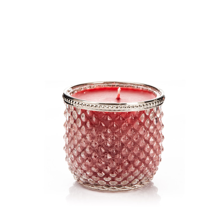 Candle in Glass-Cranberry+Cinnamon, Red Wide 9x Heimdekoration