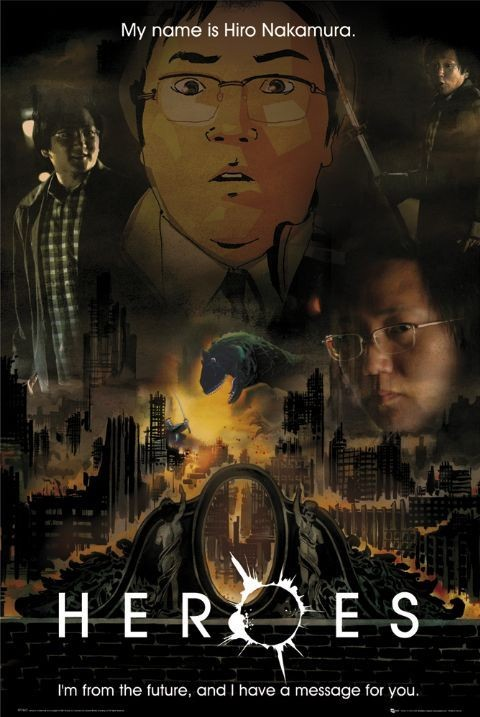 HEROES - message (hiro) - плакат (poster)