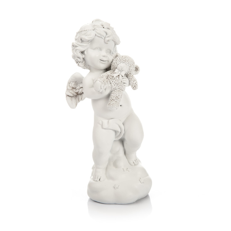 Angel with Teddy Bear, 19 cm Heminredning