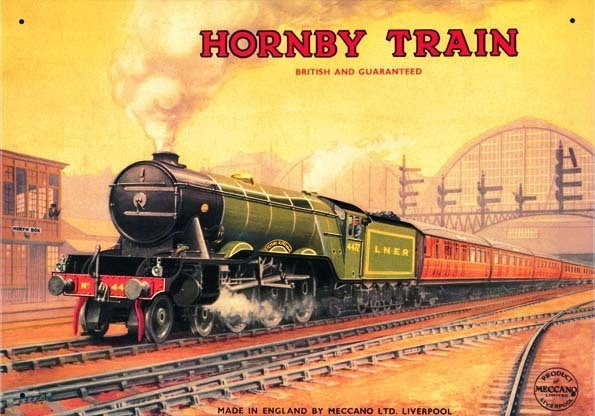 HORNBY FLYING SCOTSMAN Metalplanche