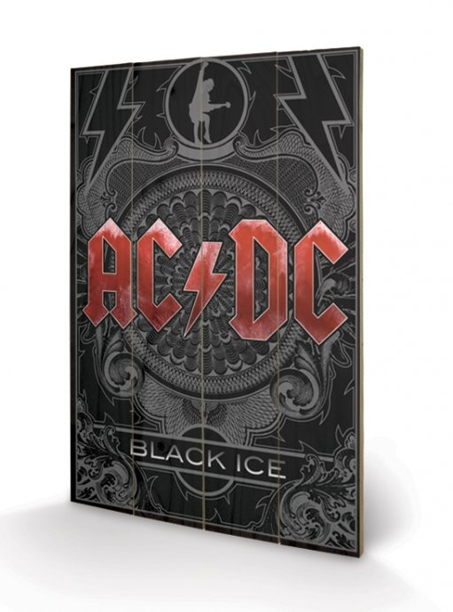AC-DC - Black Ice kunst op hout