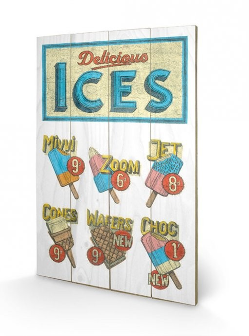 BARRY GOODMAN - delicious ices kunst op hout