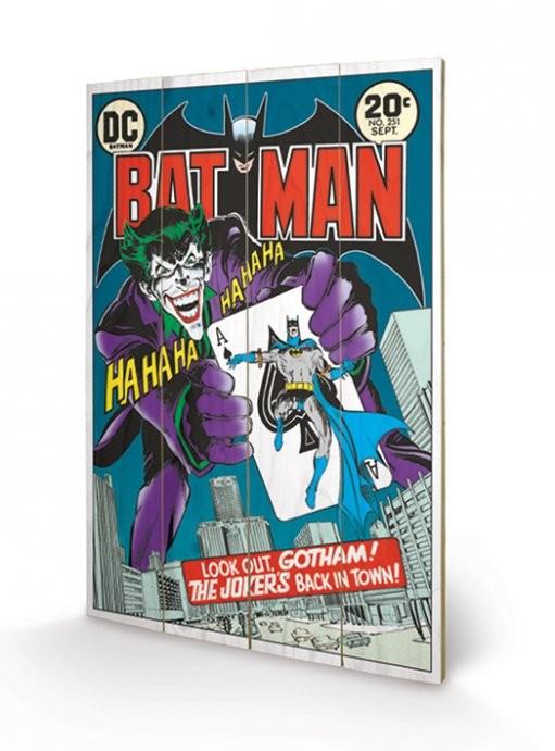 DC COMICS - joker  back in town kunst op hout