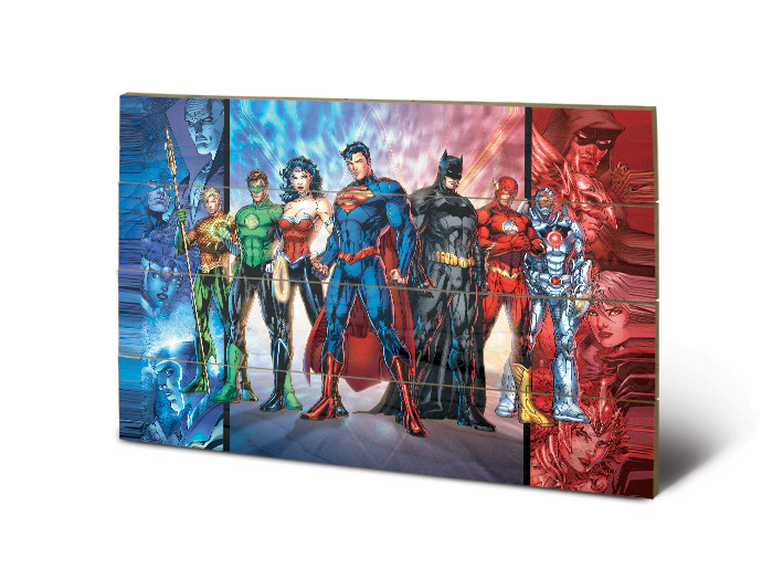 DC Comics - Justice League United kunst op hout