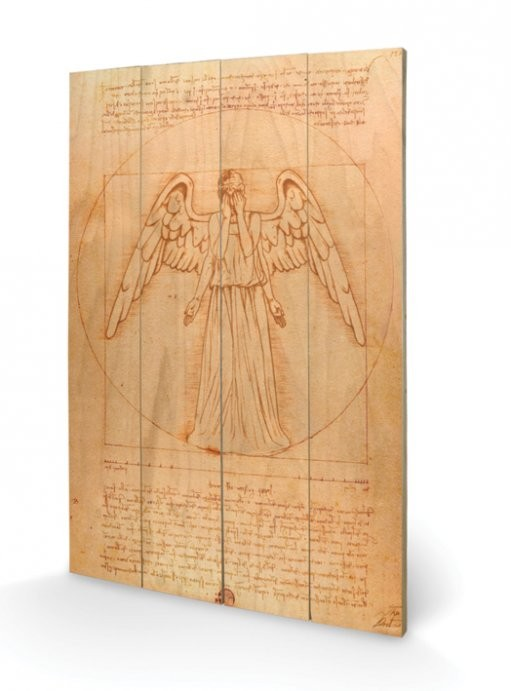 Doctor Who - Weeping Angel kunst op hout
