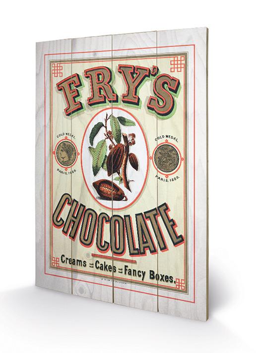 Fry's Chocolate kunst op hout
