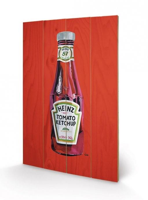 Heinz - Tomato Ketchup Bottle  kunst op hout
