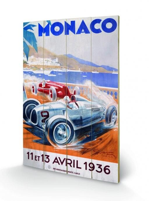 Monaco - 1945 kunst op hout