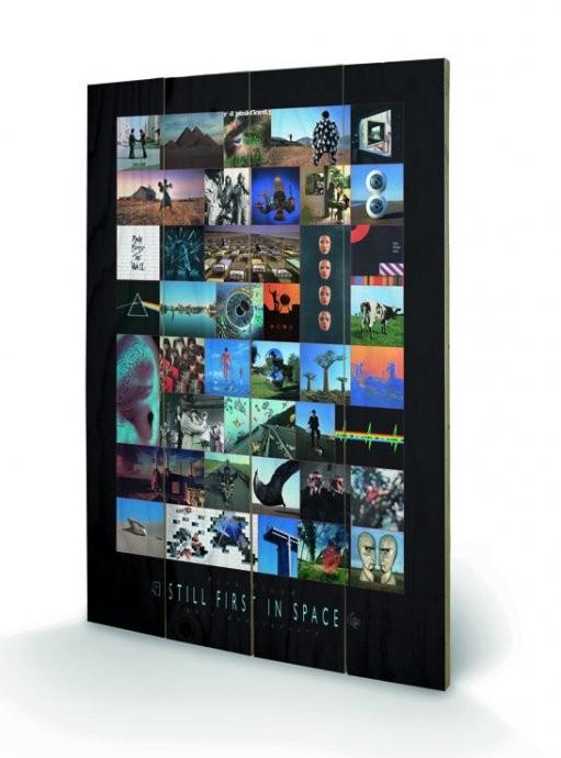 Pink Floyd - 40th Anniversary kunst op hout