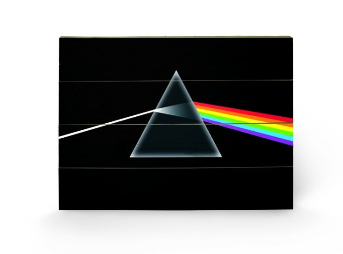 PINK FLOYD - dark side of the moon kunst op hout