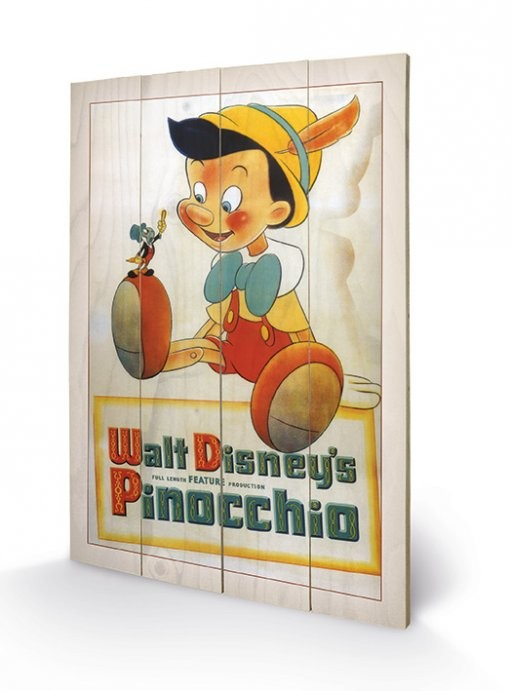 Pinocchio - Conscience kunst op hout