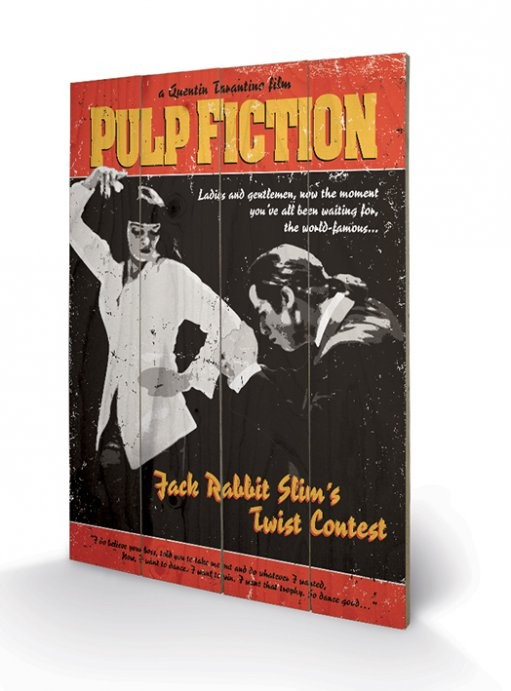 Pulp Fiction - Twist Contest kunst op hout