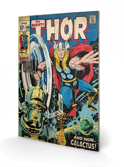 Thor - Galactus kunst op hout