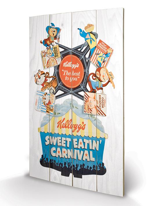 Vintage Kelloggs - Sweet Eatin' Carnival kunst op hout