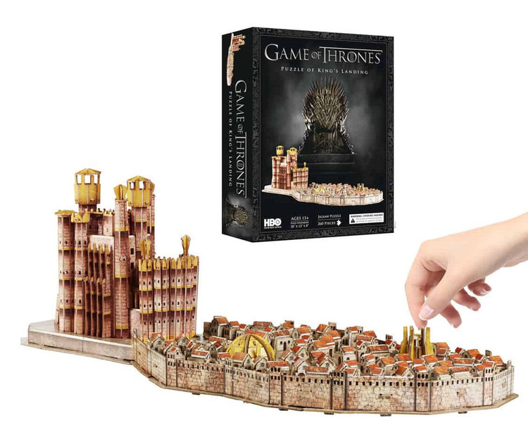 Puzzle Hra o Trůny (Game of Thrones) - Kings Landing 4D Cityscape