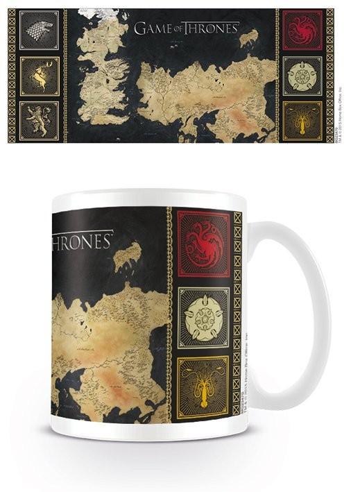 Hrnek Hra o Trůny (Game of Thrones) - mapa