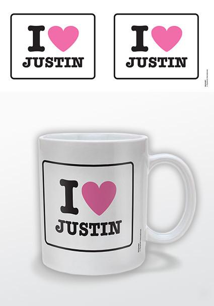 Hrnček I love Justin