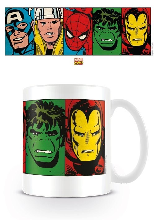 Hrnček Marvel Retro - Faces