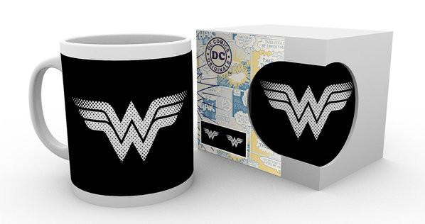 Hrnek  DC Comics - Wonder Woman monotone logo