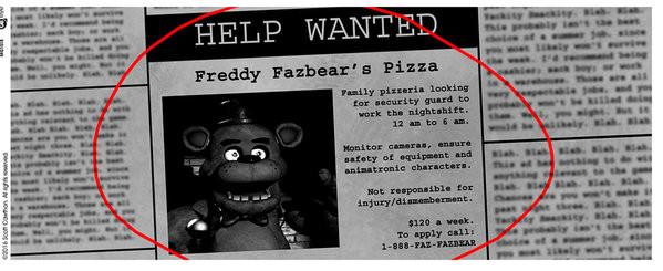 Hrnek Five Nights At Freddys Help Wanted