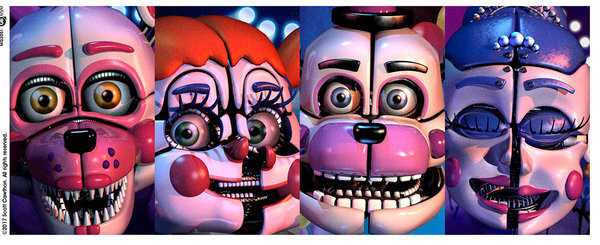Hrnek Five Nights At Freddy's - Sister Location Faces