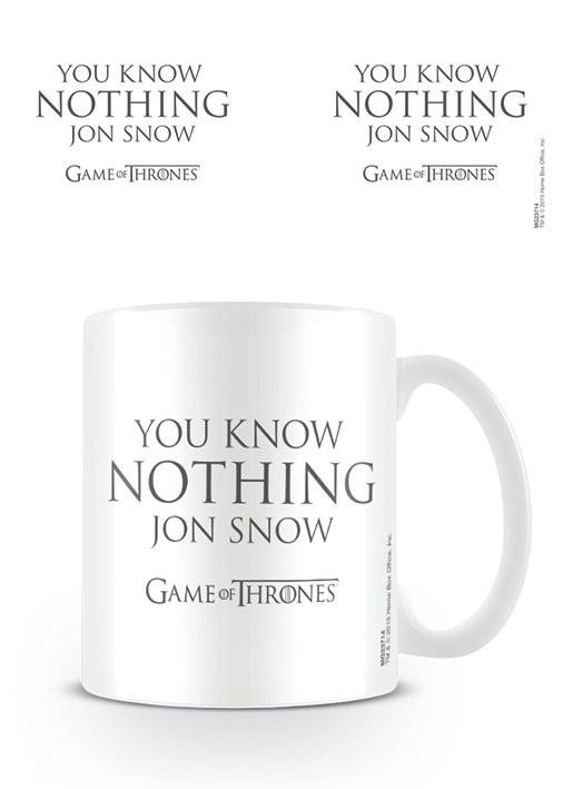 Hrnek Hra o Trůny (Game of Thrones) - You Know Nothing Jon Snow