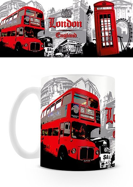 Hrnek Londýn - Red Bus Collage