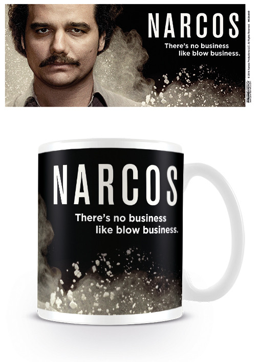 Hrnek  Narcos - There's no business like blow business
