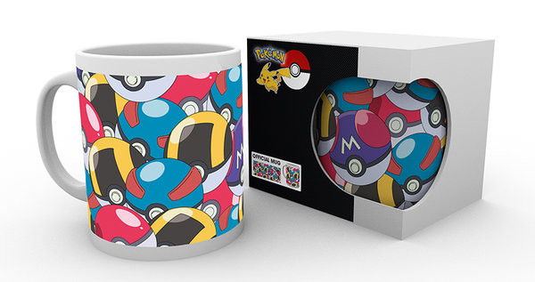 Hrnek  Pokemon - Pokeballs