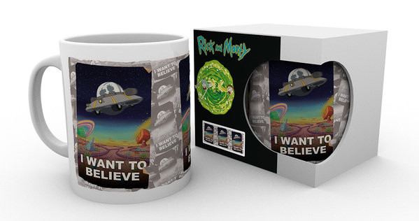 Hrnek  Rick And Morty - I Want To Believe