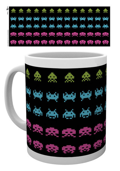 Hrnek Space Invaders - Invader Wrap